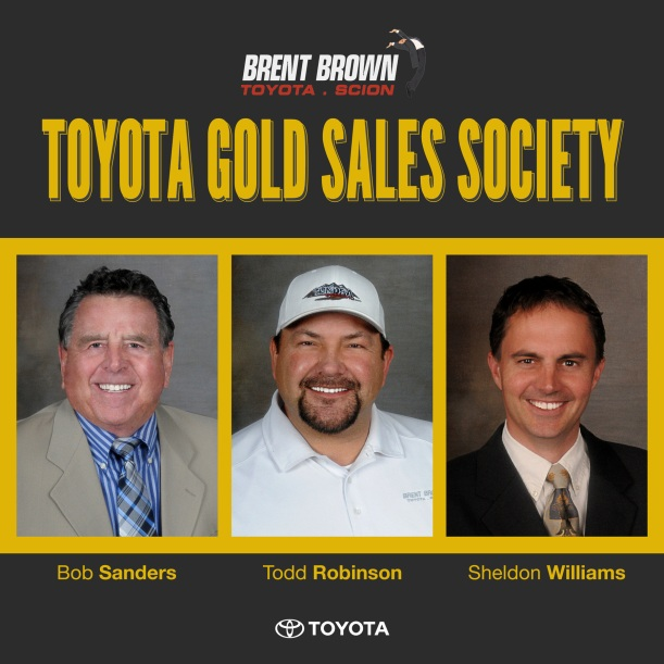 Toyota Gold Sales Society Brent Brown Staff Awards